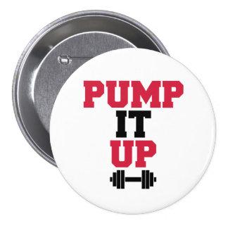 Pump It Up Gym Quote 7.5 Cm Round Badge