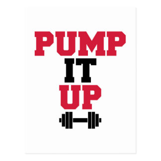 Pump It Up Gym Quote Postcard