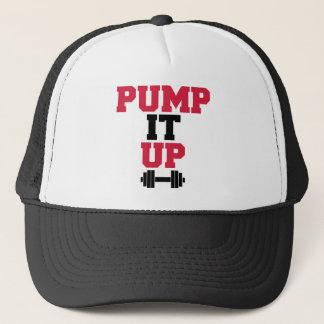 Pump It Up Gym Quote Trucker Hat