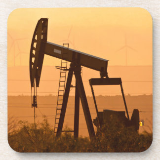 Pump Jack Pumping Oil In West Texas, USA Beverage Coasters