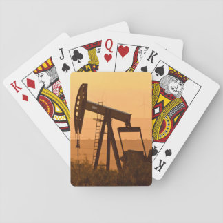 Pump Jack Pumping Oil In West Texas, USA Poker Cards