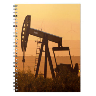 Pump Jack Pumping Oil In West Texas, USA Spiral Notebooks