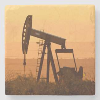 Pump Jack Pumping Oil In West Texas, USA Stone Beverage Coaster