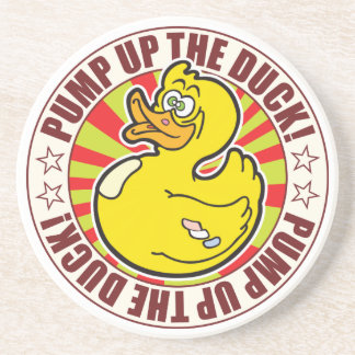 Pump Up The Duck Beverage Coasters