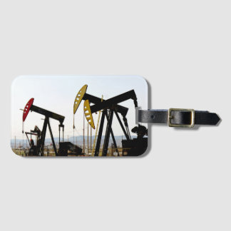 Pumpjacks in Taft California Luggage Tag