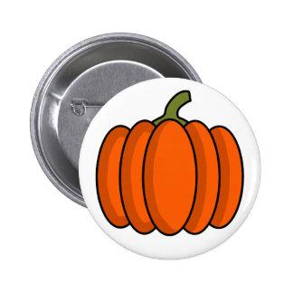 Pumpkin 6 Cm Round Badge