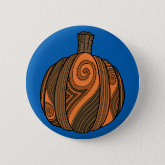 Pumpkin Abstract Design 6 Cm Round Badge
