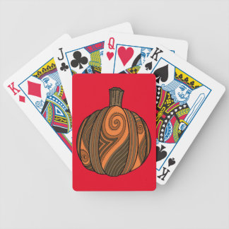 Pumpkin Abstract Design Bicycle Playing Cards