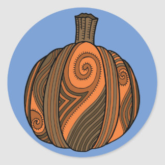 Pumpkin Abstract Design Classic Round Sticker