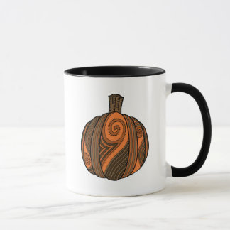 Pumpkin Abstract Design Mug