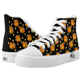Pumpkin and Candy Corn Printed Shoes
