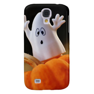 Pumpkin and ghost - funny ghost - orange pumpkin samsung galaxy s4 covers
