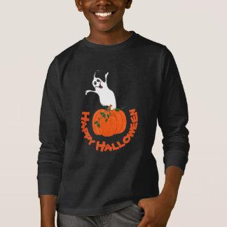 Pumpkin and Ghost - T-shirt
