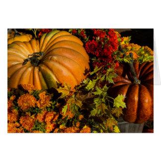 Pumpkin And Mum Arrangement Card
