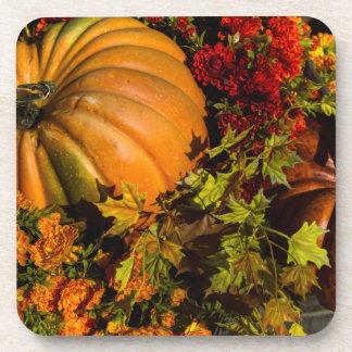 Pumpkin And Mum Arrangement Coaster