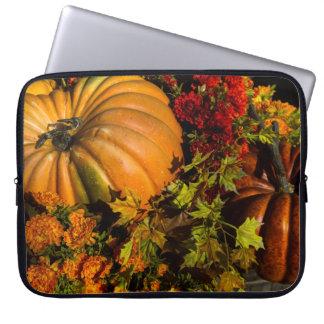 Pumpkin And Mum Arrangement Laptop Sleeve