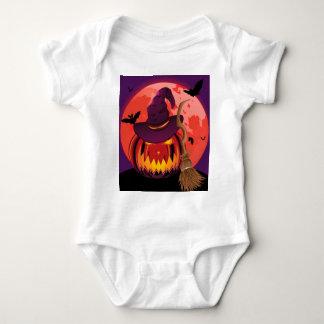 Pumpkin and Red Moon Baby Bodysuit