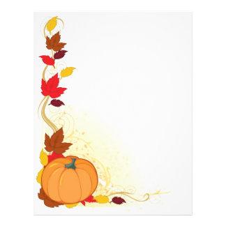 Pumpkin Autumn Border 21.5 Cm X 28 Cm Flyer