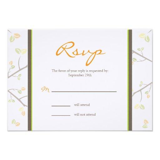 Pumpkin Baby Carriage RSVP Card
