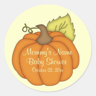 Pumpkin Baby Shower Stickers