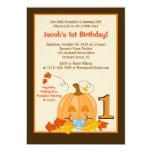 "Pumpkin Baby's 1st Birthday Halloween 5x7 Invite 5"" X 7"" Invitation Card"