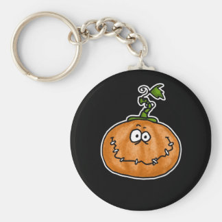 pumpkin basic round button key ring