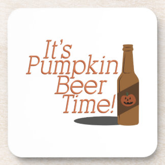 Pumpkin Beer TIme Drink Coaster