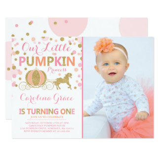 Pumpkin Birthday Invitation Pumpkin Princess Party