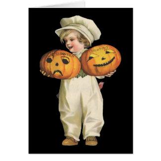 Pumpkin Boy Card