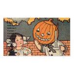 Pumpkin Boy (Vintage Halloween Card) Business Cards