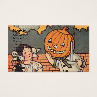Pumpkin Boy (Vintage Halloween Card) Business Card