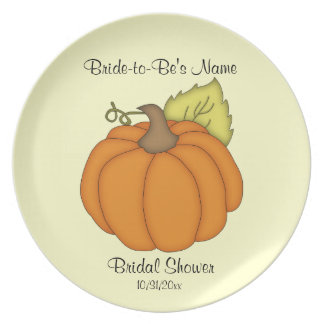 Pumpkin Bridal Shower Keepsake Plate