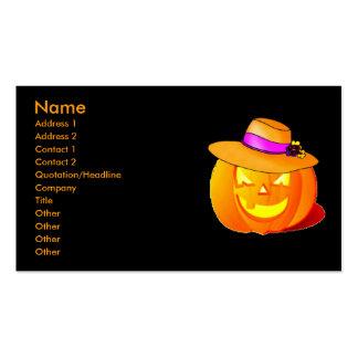 Pumpkin Business Card Template