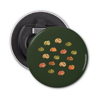 Pumpkin Button Bottle Opener