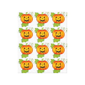 Pumpkin Stretched Canvas Print