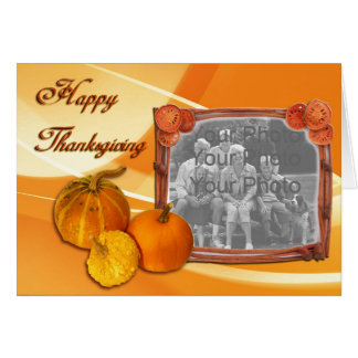 Pumpkin card with your photo