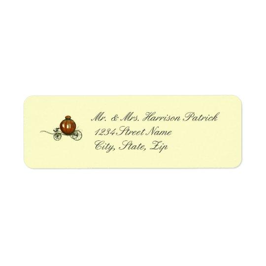 Pumpkin Carriage (1) Return Address Label