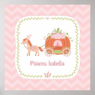 Pumpkin Carriage Little Princess Girls Wall Decor