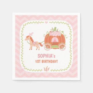 Pumpkin Carriage Princess Birthday Party Supplies Paper Napkins