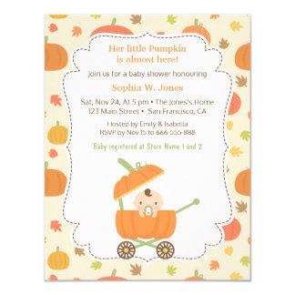 Pumpkin Carriage Stroller Baby Shower Invitations