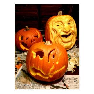 Pumpkin Carving I Postcard