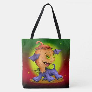 PUMPKIN CAT MONSTER TOTE BAG