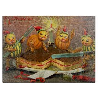 Pumpkin Characters Cutting Cake Cutting Board