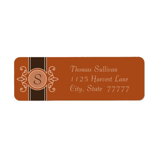 Pumpkin Classic Harvest Return Address Labels