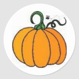 pumpkin classic round sticker