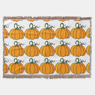 Pumpkin clipart throw blanket