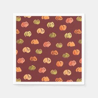 Pumpkin Cocktail Paper Napkins