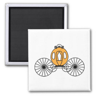 Pumpkin Colored Coach Square Magnet