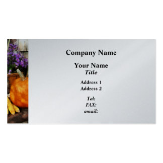 Pumpkin, Corn and Asters  - Platinum Finish Pack Of Standard Business Cards