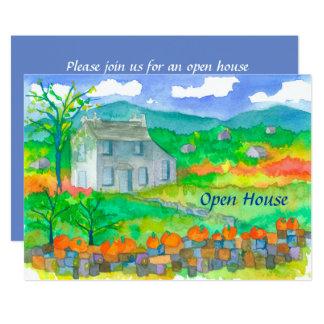 Pumpkin Cottage Autumn Open House Invitation